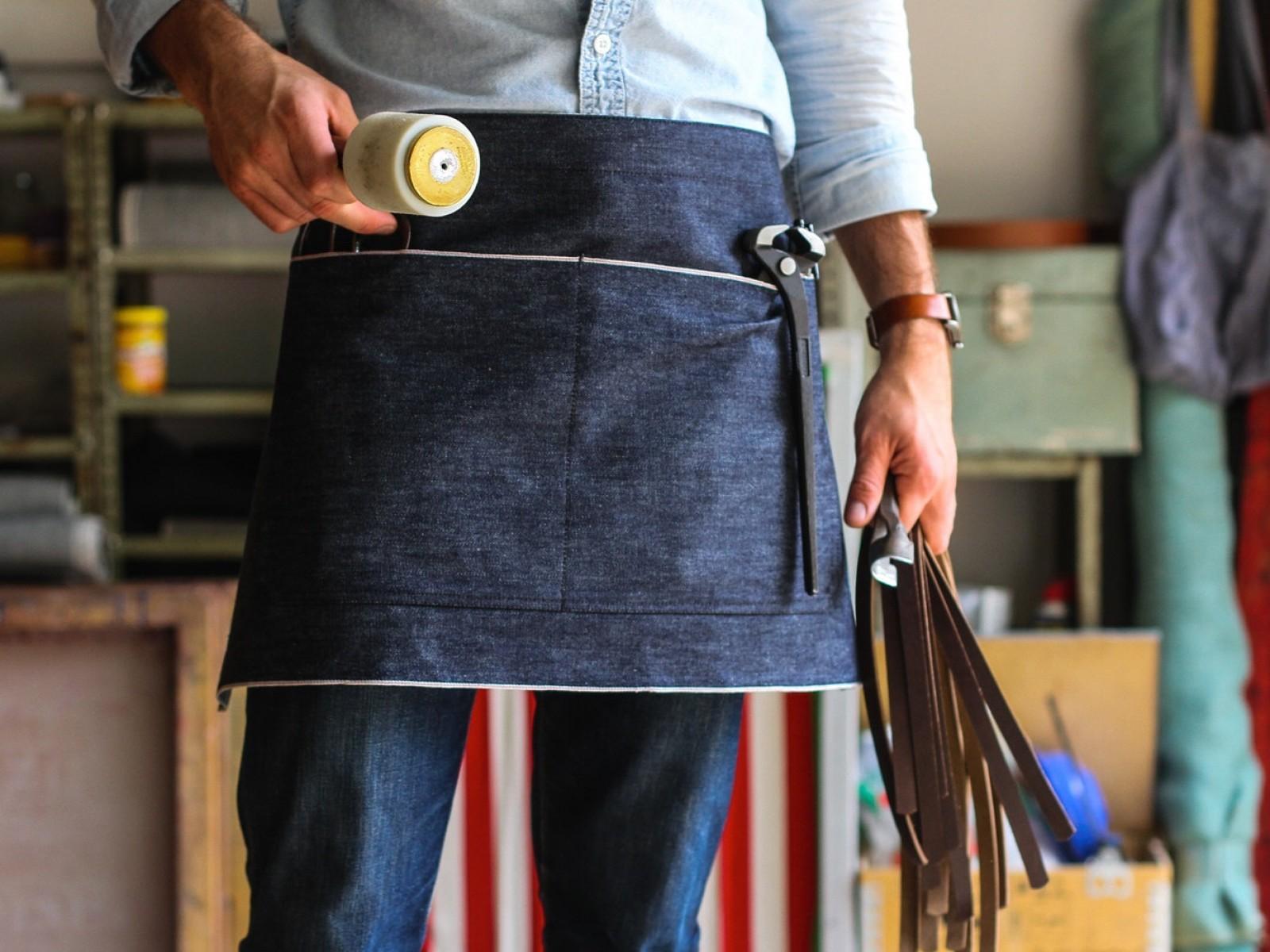 Blue apron quality assurance - Denim Waist Apron